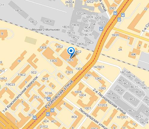 Карта главного офиса: 107140, г. Москва, Русаковская ул., д. 13, стр. 1